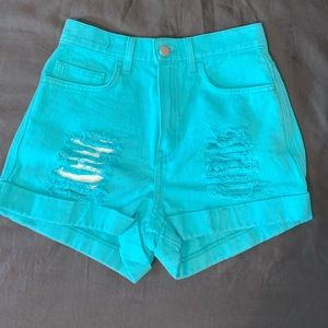 Women's size 2 teal shorts